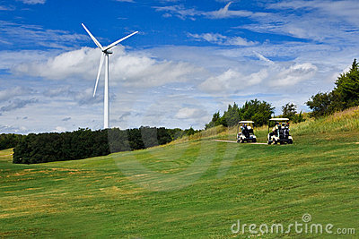Wind power and golf