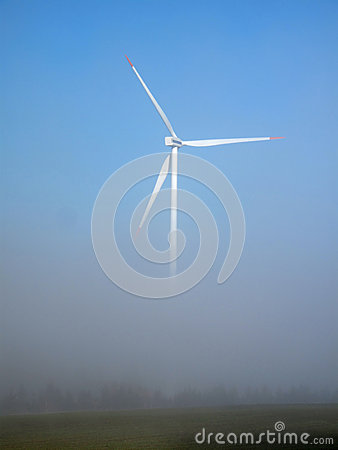 Wind power green energy produced from wind