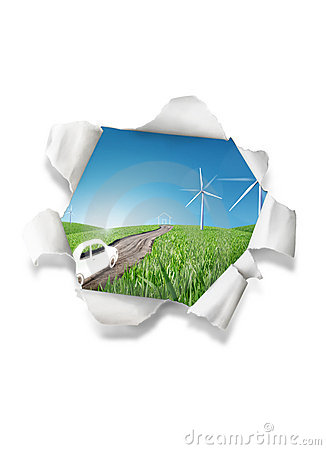 Wind power illustration