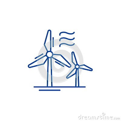 Free Wind Power Line Icon Concept. Wind Power Flat  Vector Symbol, Sign, Outline Illustration. Stock Photo - 143124540