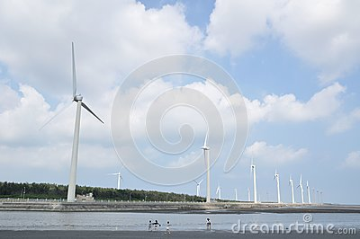 A wind-power station