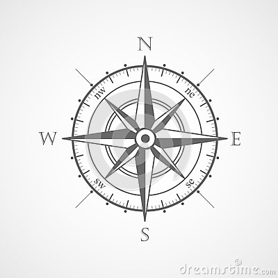 Free Wind Rose Compass Vector Symbol Stock Photos - 39056113