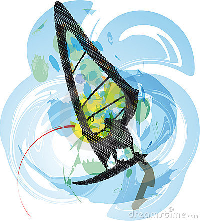 Wind surf illustration