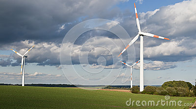 Wind turbine across