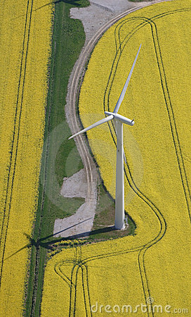 Stock Image: Wind Turbine aerial