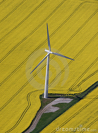 Free Wind Turbine Aerial Stock Images - 856944
