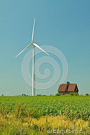 Wind Turbine and Barn