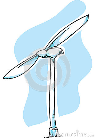 Wind Turbine Stock Illustration Image 41986316