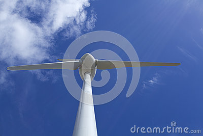 Wind Turbine Close Up