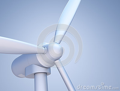 Wind Turbine close-up (in product type lighting)
