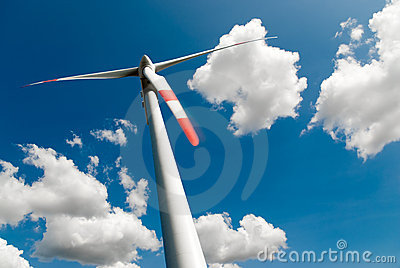 Wind turbine and couds