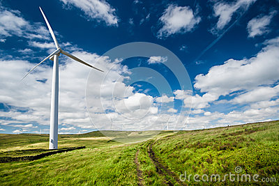 Wind turbine in countryside