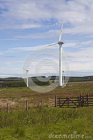 Wind turbine farm.