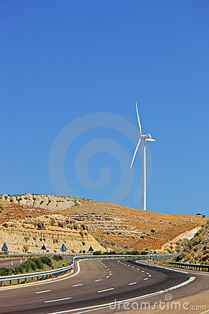 Free Wind Turbine In Extremadura Region Stock Image - 10548211