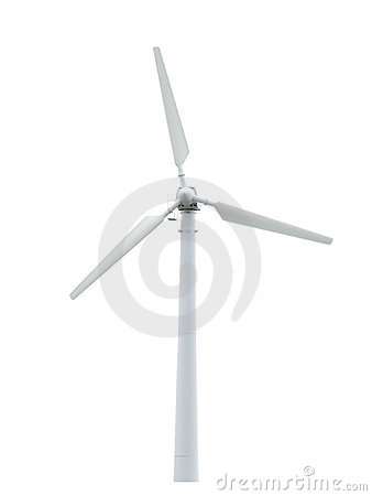 Free Wind Turbine Isolated. Alternative Energy Source. Stock Image - 5285651