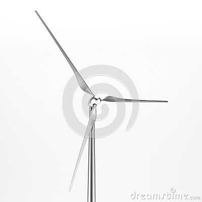 Wind turbine isolated  close-up