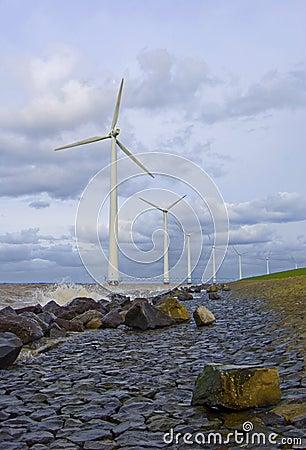 Free Wind Turbine Jetty Stock Image - 2384061