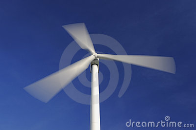 Wind turbine in movement