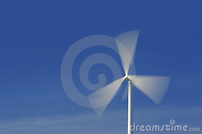 Wind turbine in movement