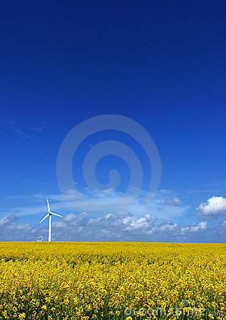 Free Wind Turbine On Field Stock Photo - 135900