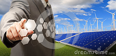 wind turbine and solar farm