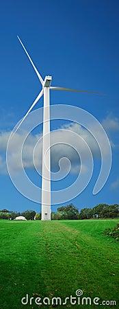 Wind turbine w/ path