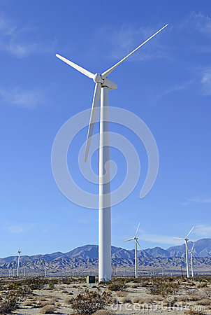 Wind turbine on windfarm Southwest Desert