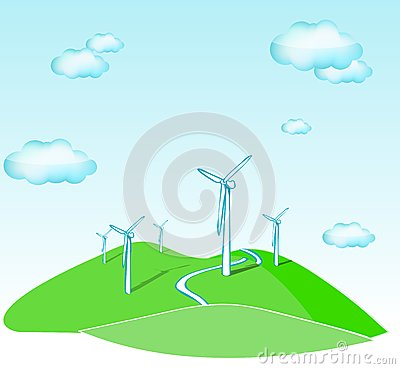 Wind Turbines Stock Photography - Image: 18098752