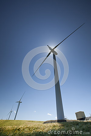 Free Wind Turbines Royalty Free Stock Image - 28607516