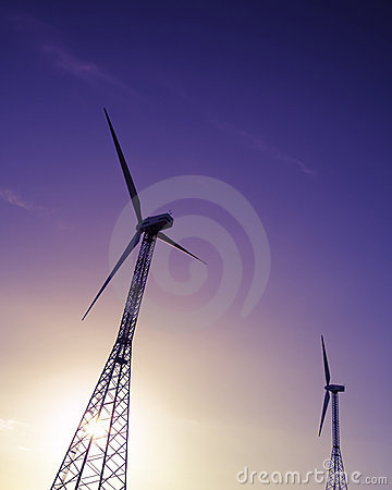 Free Wind Turbines Royalty Free Stock Photos - 3149088