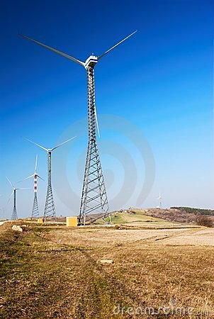 Free Wind Turbines Royalty Free Stock Image - 4602236