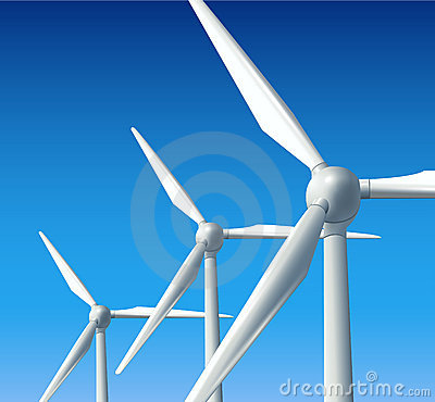Wind turbines background