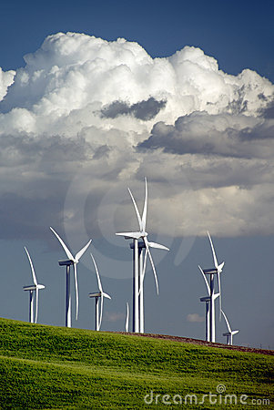 Wind Turbines and Clouds