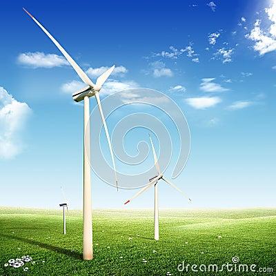 Wind Turbines (Eco concept)