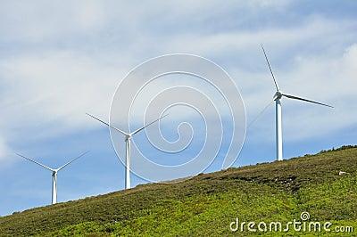 Wind turbines farm, Elgea range (Basque Country)