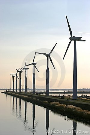 Wind turbines at the IJsselmeer