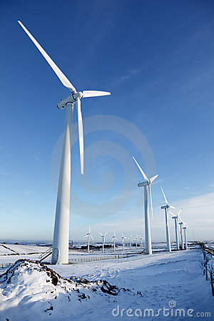 Free Wind Turbines In Winter Stock Photos - 12386833
