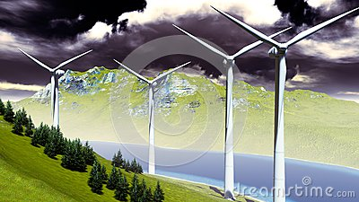 Wind turbines onshore