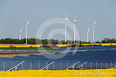 Wind turbines and photovoltaic plant