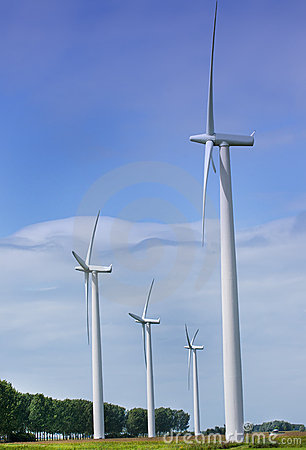 Wind turbines producing green energy