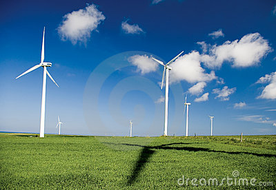 Wind turbines and shadow