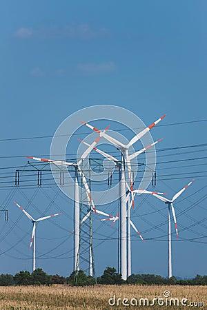 Wind turbines in strong heat haze (!)