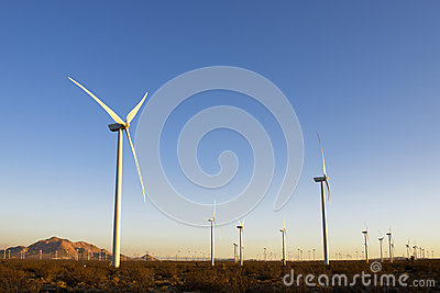 Wind Turbines during sunset