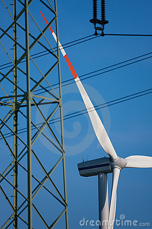 Wind turbines and transmission line