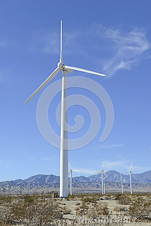 Wind Turbines in Wind Farm, Southwest USA