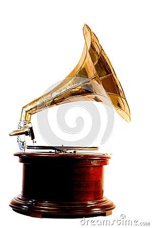Wind-up gramophone