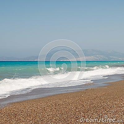 Windige ägäische Küste