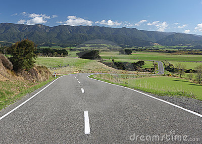 Winding Country Road, New Zealand