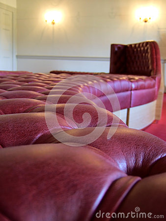 Winding leather seating