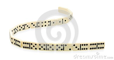 Winding ribbon of dominoes